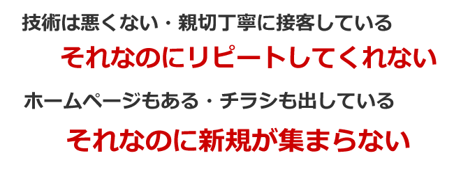 治療院・サロン専門集客経営コンサルティングサポートメニュー